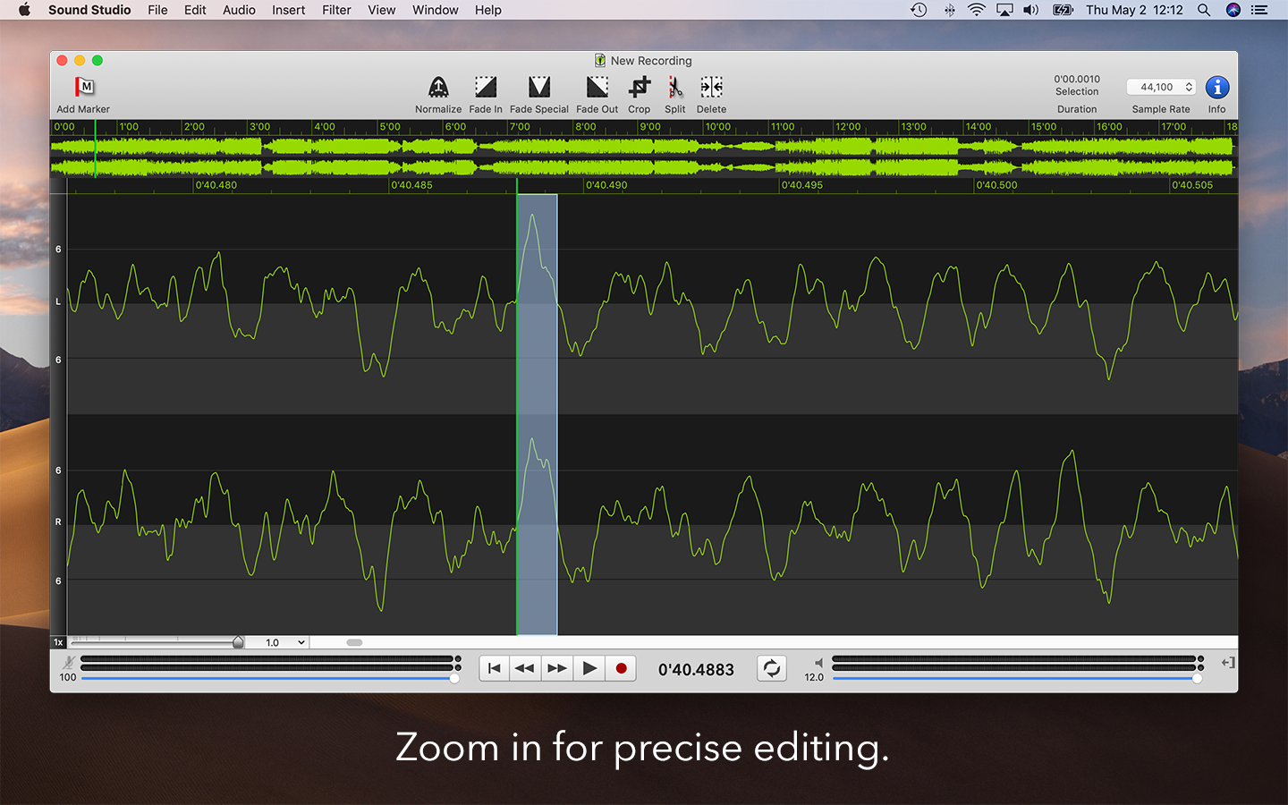 Sound Studio 4 - Mac App for Audio Editing
